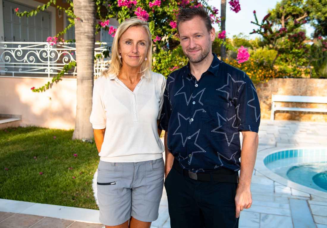 Aftonbladets Lotte Fernvall och Torbjörn Ek på plats i Porto Heli