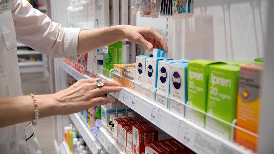 Försäljningen av receptfria smärtstillande läkemedel ökade med 213 procent i Uppsala.