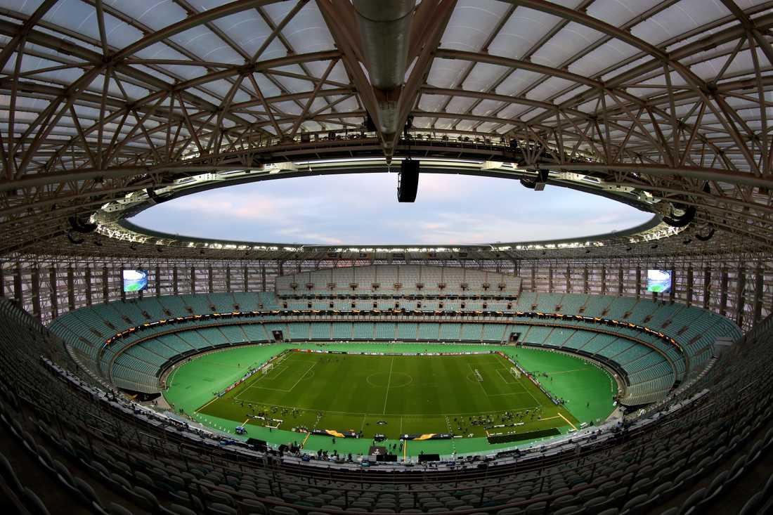 Baku Olympiastadium, Baku. Kapacitet: 69 000. Byggår: 2015.