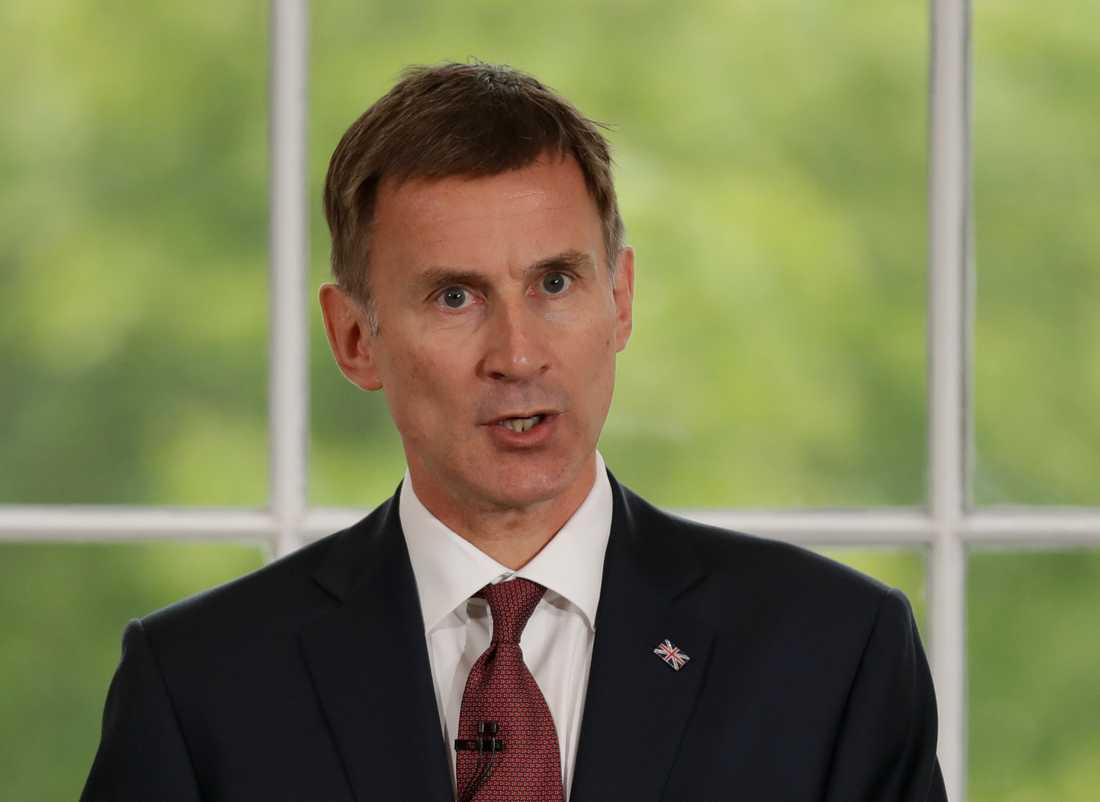 Jeremy Hunt, utrikesminister i Storbritannien är en av tio kandidater som vill efterträda May. Arkivbild.