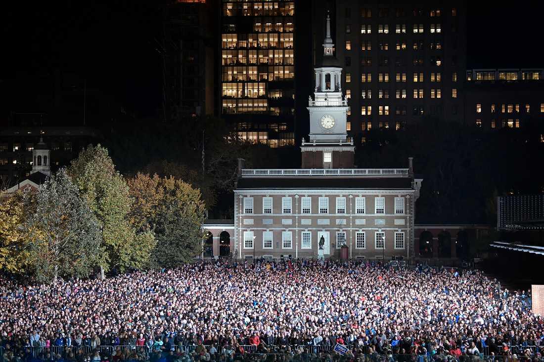 Delar av publiken i Philadelphia.