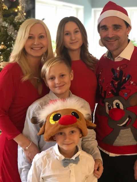 Familjen Liljeqvist firar jul.