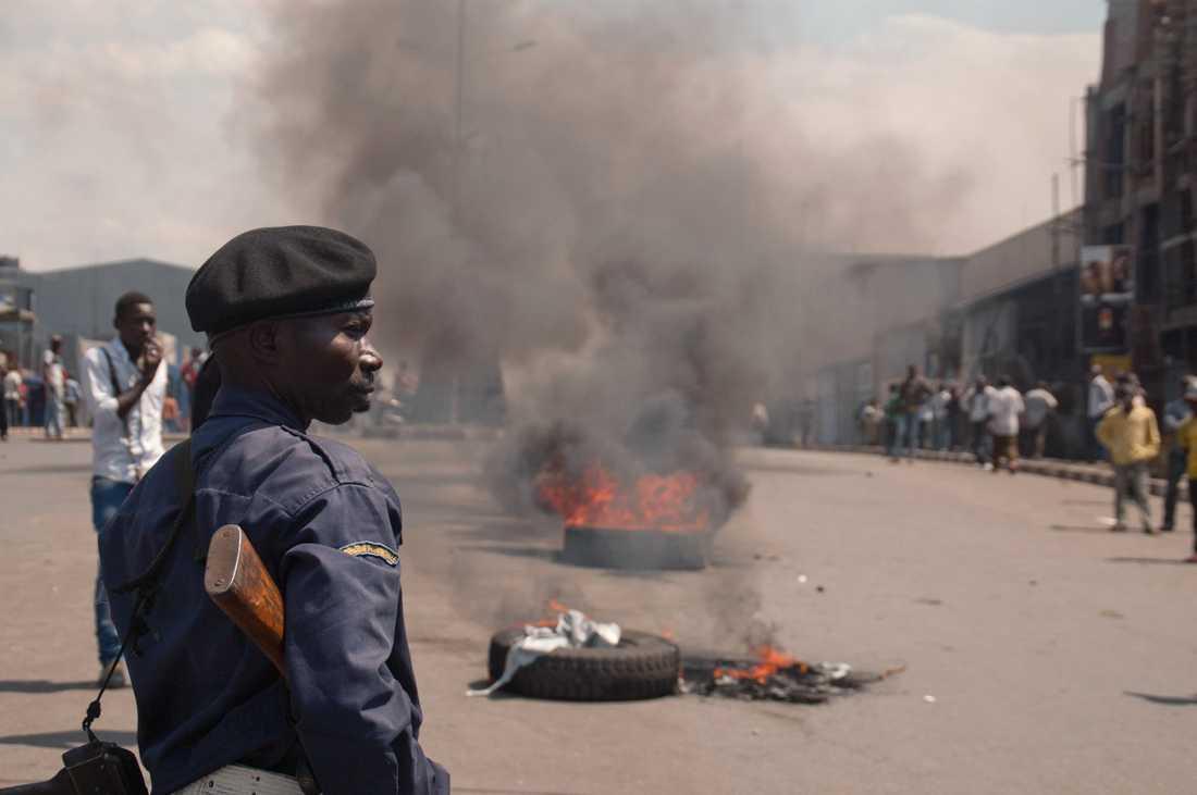 Polis i Demokratiska Republiken Kongo. (Genrebild.)