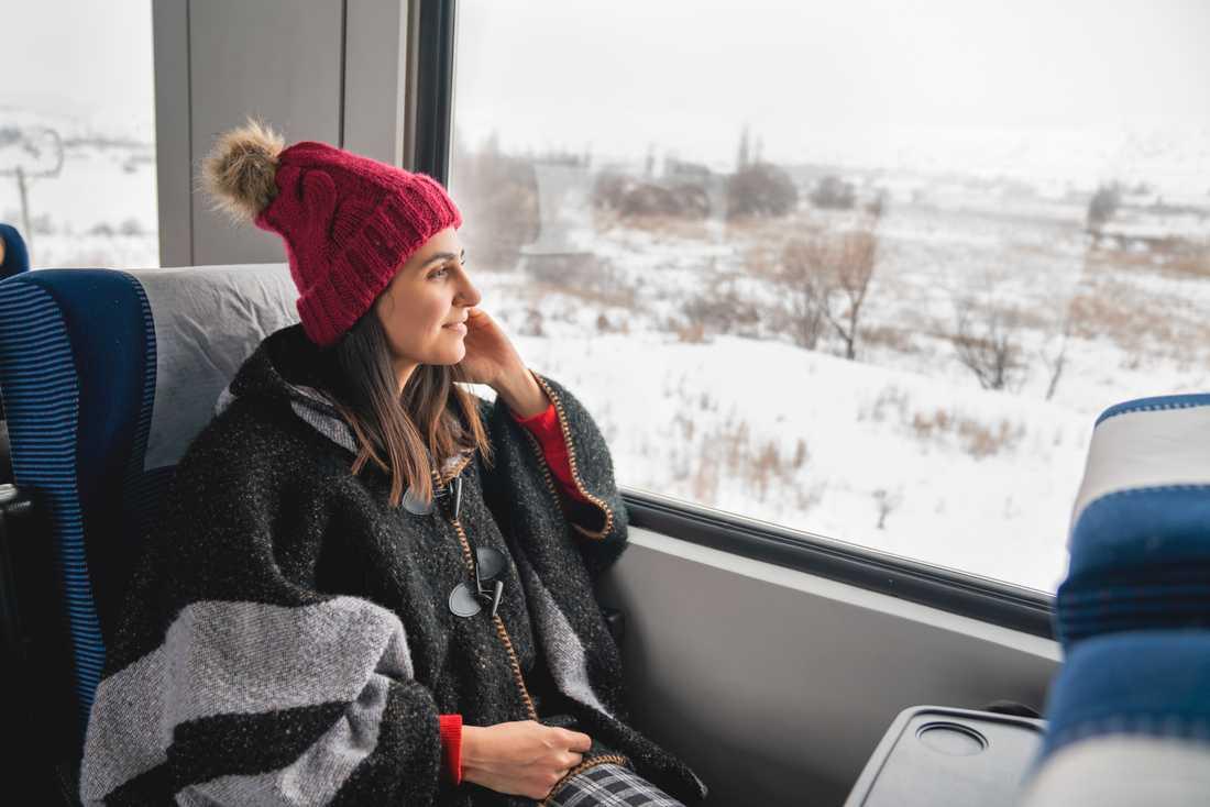 Endast dryga 2 procent kom försent när de åkte tåg i jul.