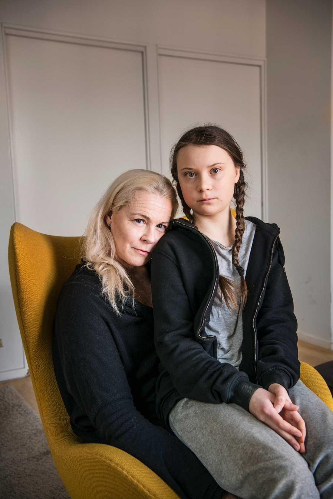 Malena Ernman och dottern Greta Thunberg.