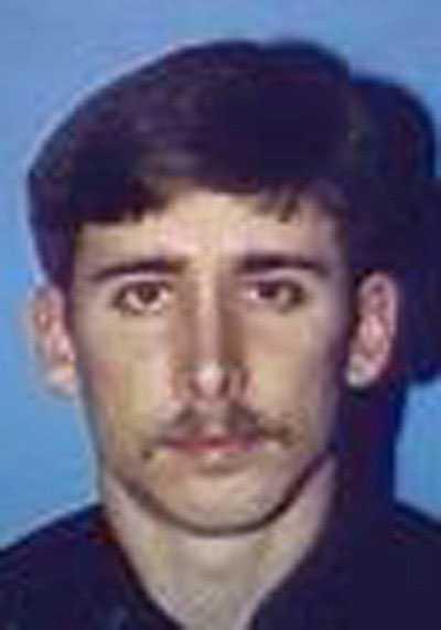 Polisen Mark MacPhail sköts till döds på en parkeringsplats i Savannah, Georgia, 1989.