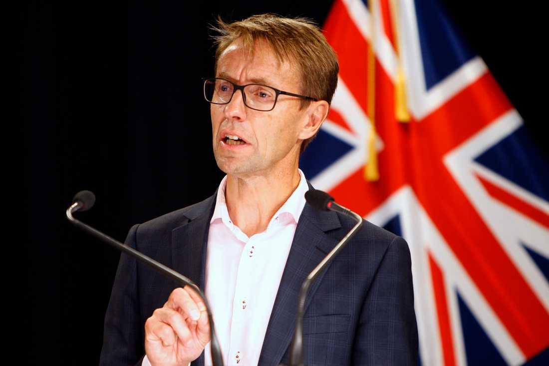 Nyzeeländska hälsoskyddsmyndighetens generaldirektör Ashley Bloomfield. Arkivbild.