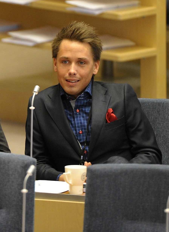 William Petzäll i riksdagen.
