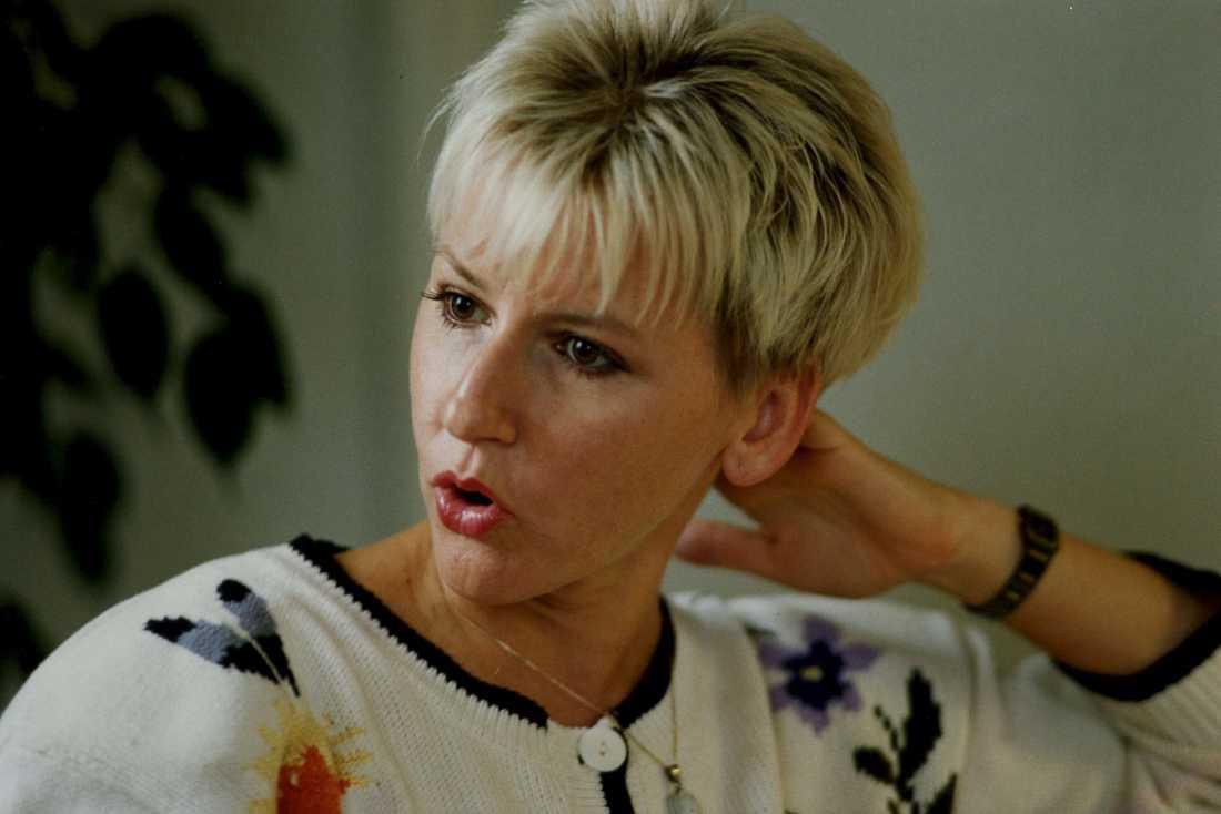 Margot Wallström som nyutsedd EU-kommissionär 1999.