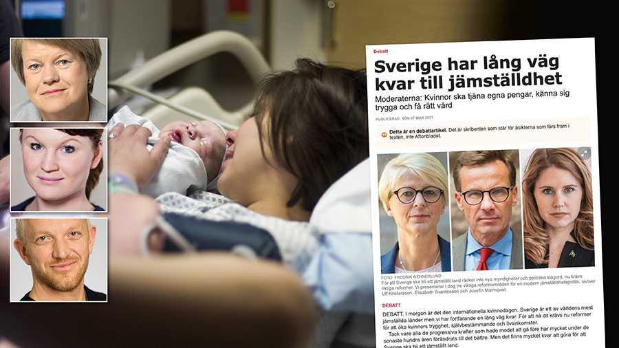 Det är Moderaterna som skär ner på kvinnors hälsa i regionerna. Om ert parti menar allvar med sitt engagemang måste de här nedskärningarna upphöra omedelbart. Och det gäller i hela landet. Replik från Ulla Andersson, Clara Lindblom och Jonas Lindberg, Vänsterpartiet.
