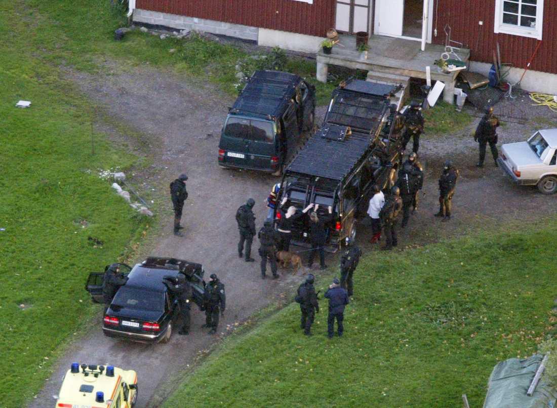 Tobias Jardeberg grips efter att ha rymt från Mariefredsanstalten.