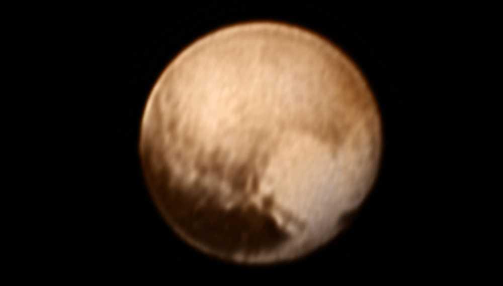Ny bild från juli 2015 på Pluto.