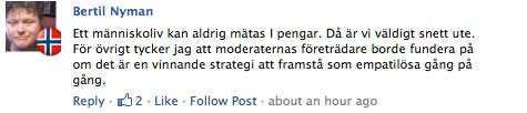 På Facebook är stödet för Ganna massivt.