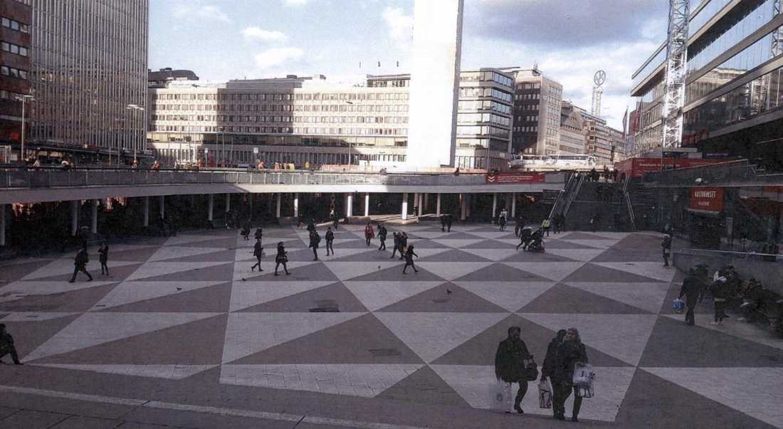 Akilovs bilder från Sergels Torg, Stockholm.