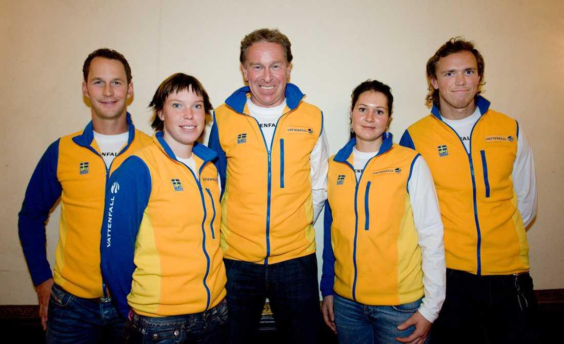 Anders Södergren, Lina Andersson, Inge Bråten, Britta Norgren och Björn Lind i oktober 2006.