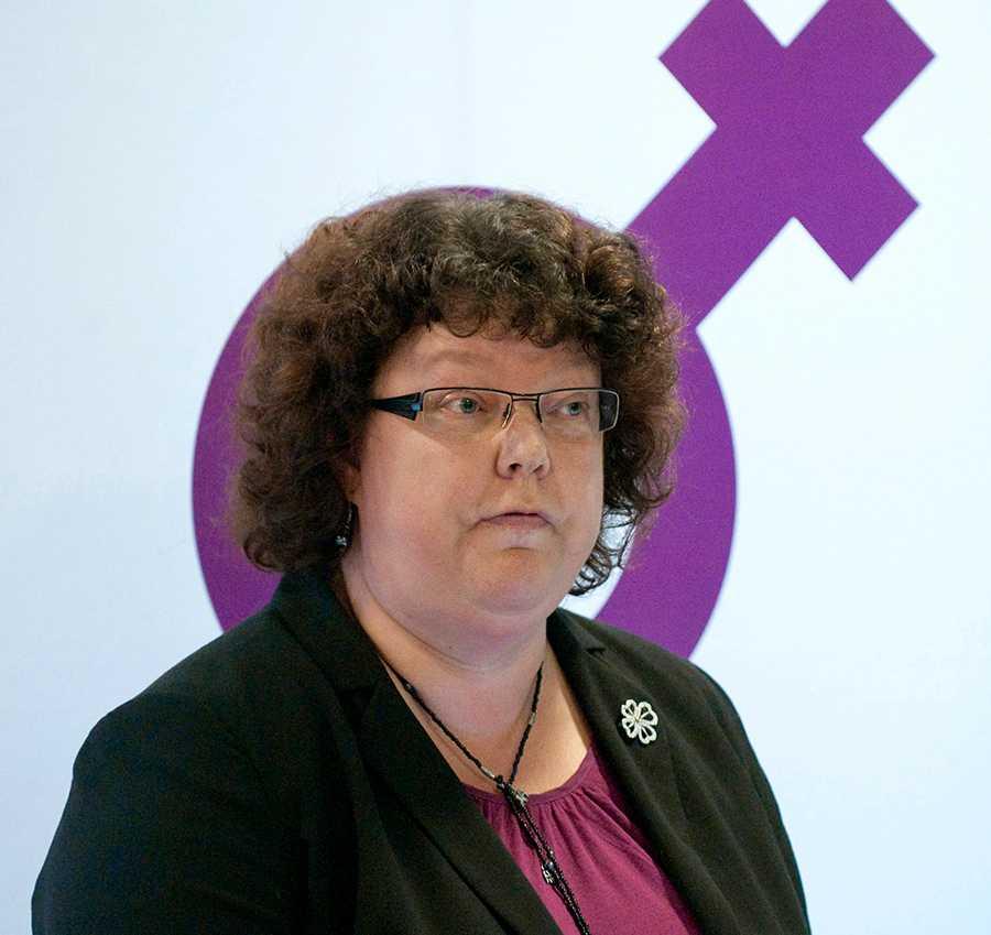 Gunilla Hjelm, ordförande för Centerkvinnorna.