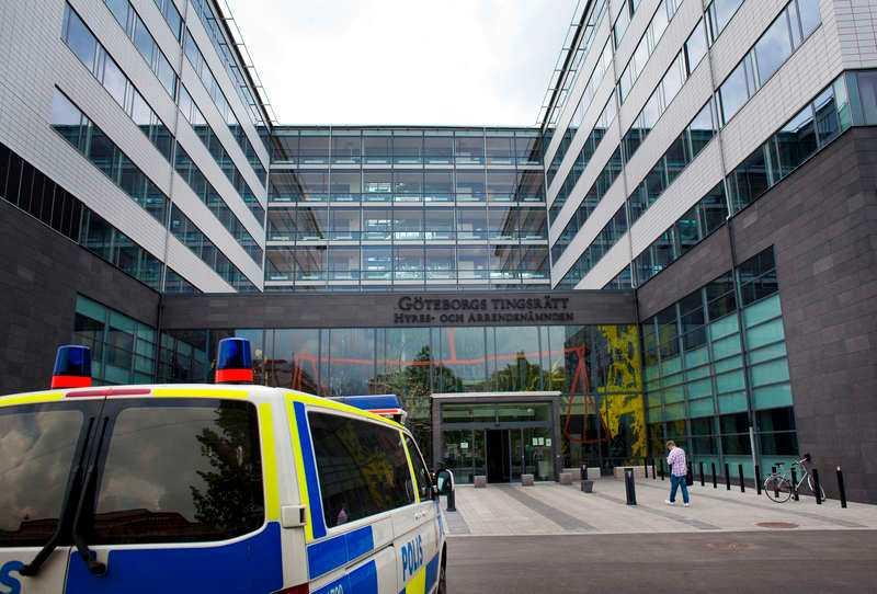 Häktningsförhandlingarna hålls på Göteborgs tingsrätt.