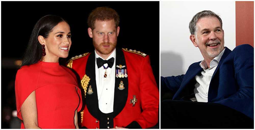 netflix vd Reed Hastings är jublande glad över kontraktet med prins Harry och hertiginnan Meghan. Den har gjort paret ekonomiskt oberoende.