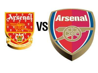 """Arsenal 2002 Konservatismen som politisk riktning föddes  i England och fotbollsfans välkomnar sällan förhastade förändringar som rör deras favoritlag. Arsenals ledning borde således ha räknat med starka reaktioner när man 2002 vände kanonen i klubbemblemet åt höger för att bättre stämma överens med klubbens framtidstro och visioner. Fansen kände sig överkörda och skanderade """"what a load of rubbish"""" under matcherna."""