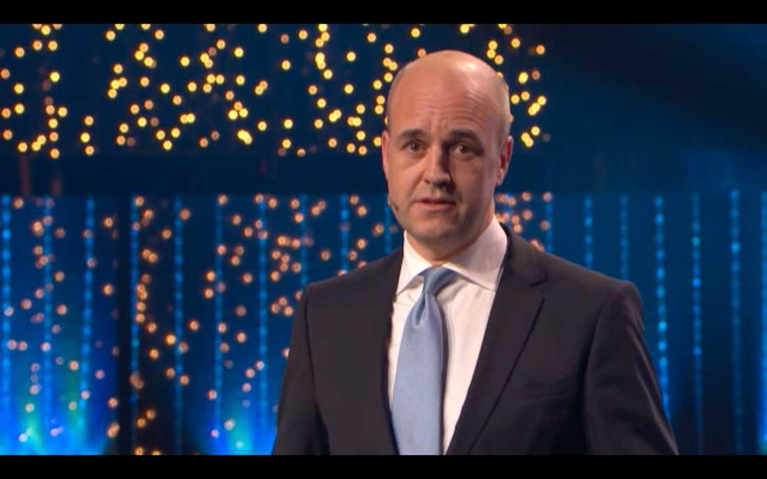 Reinfeldt under Svenska hjältar-galan.