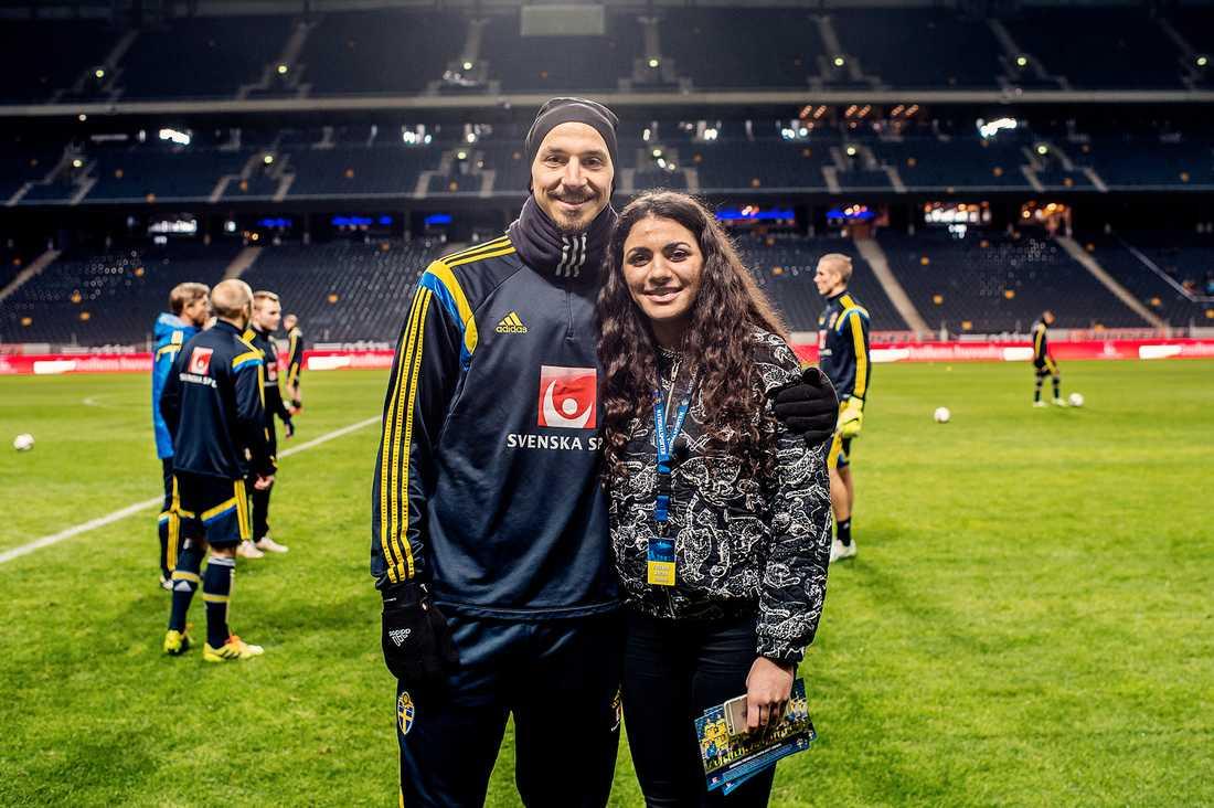 För Marwa var mötet en dröm som blev sann – och Zlatan berömde hjältinnan för sitt mod. Förutom fotbollen delar duon en stark kärlek till sina familjer.