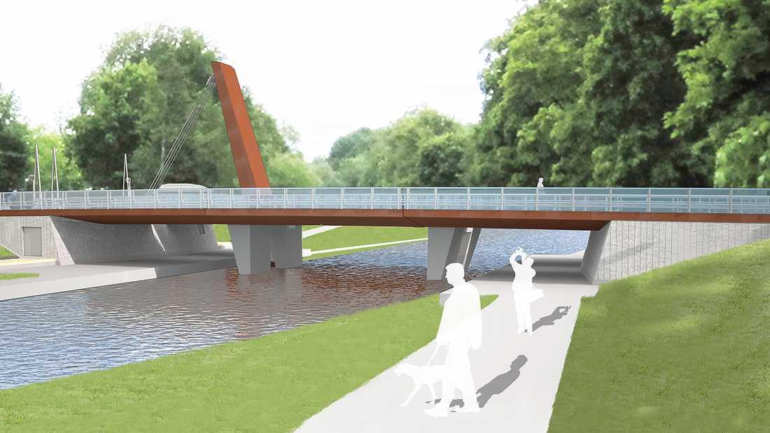 Tullgarnsbron ska ansluta till Ulleråkersvägen vid Kap intill Studenternas.