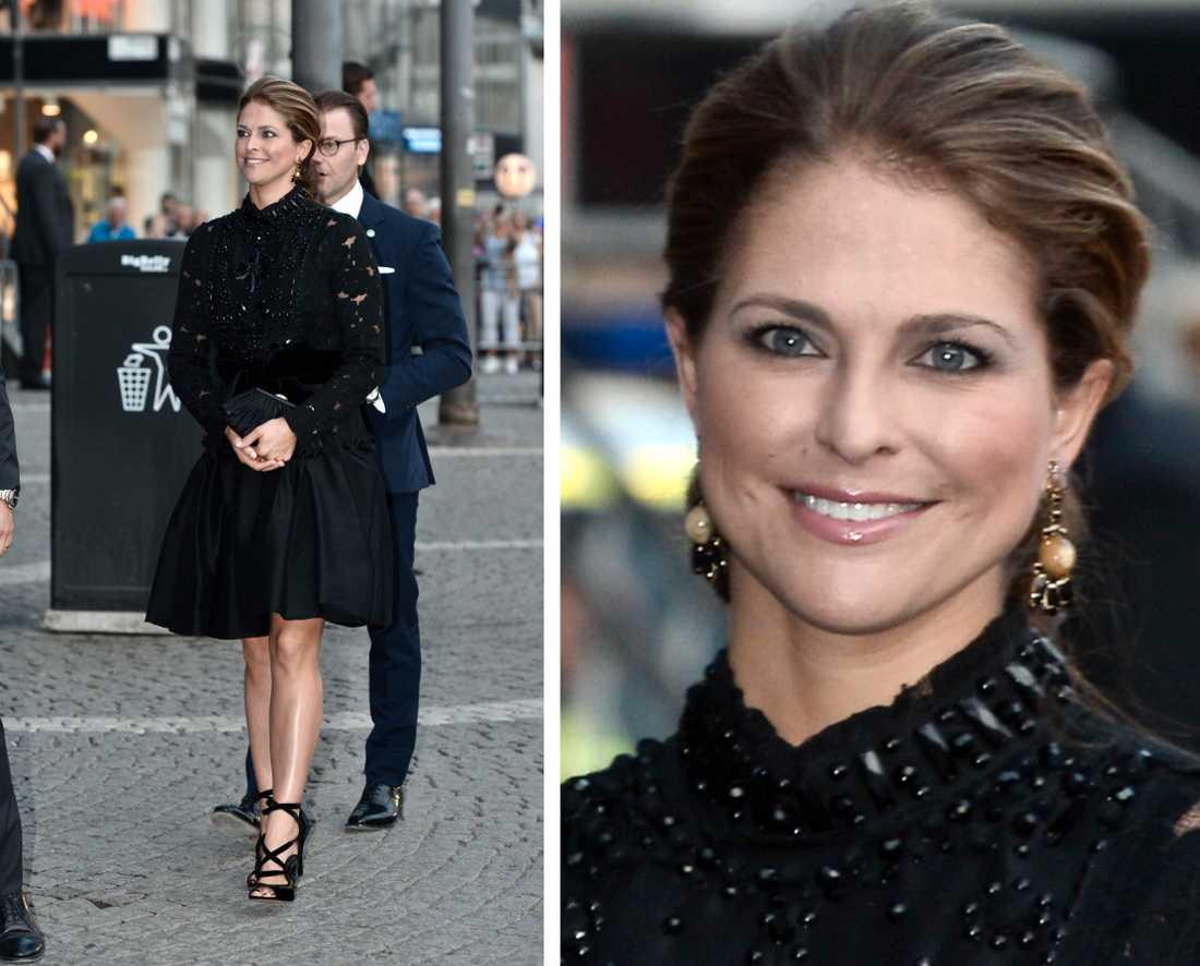 Prinsessan Madeleine med Marni-örhängen vid riksmötets öppnanade 2016.