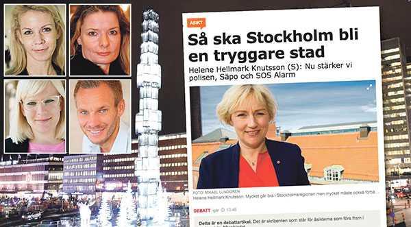 Det är uppenbart att socialdemokraterna inte förmår se de problem som Stockholm står inför, än mindre ta fram lösningar för dem, skriver Anna König Jerlmyr, Lotta Edholm, Karin Ernlund och Erik Slottner.