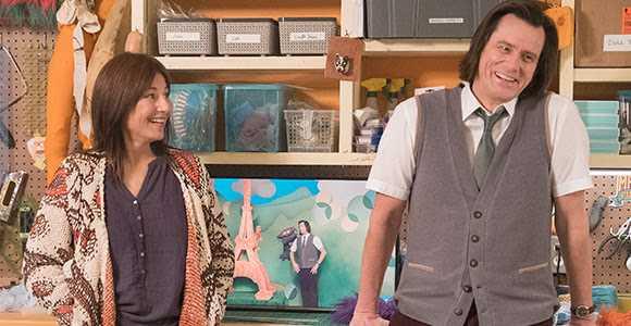 """Jim Carrey tillsammans med Catherine Keener i """"Kidding""""."""