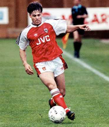 Anders Limpar, publikfavorit i Arsenal, 1992.