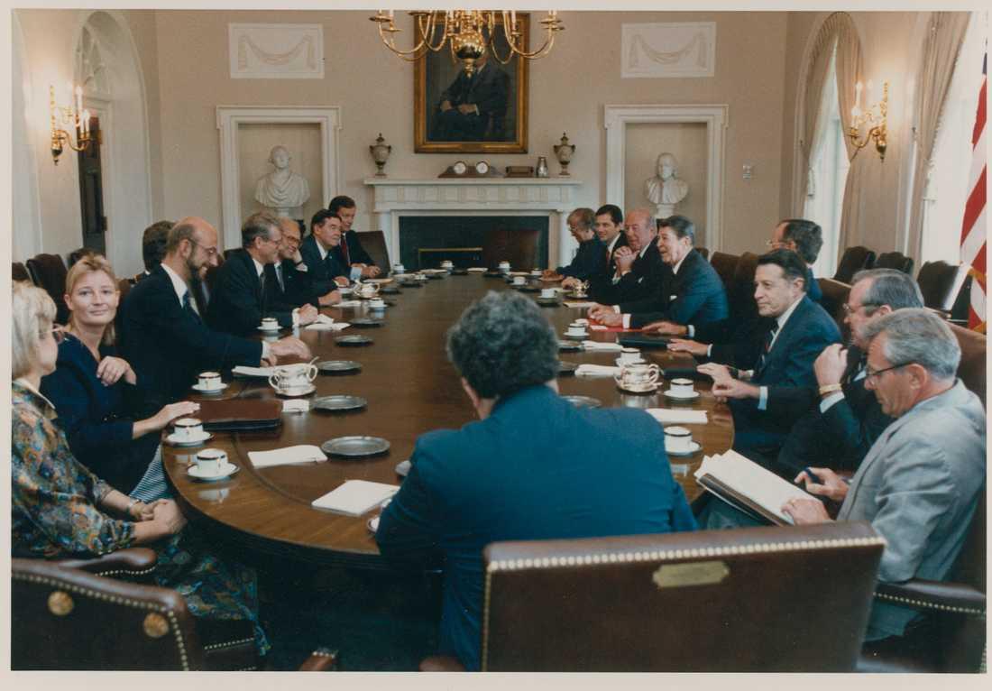 Hans Dahlgren i Vita huset med USA:s dåvarande president Ronald Reagan.