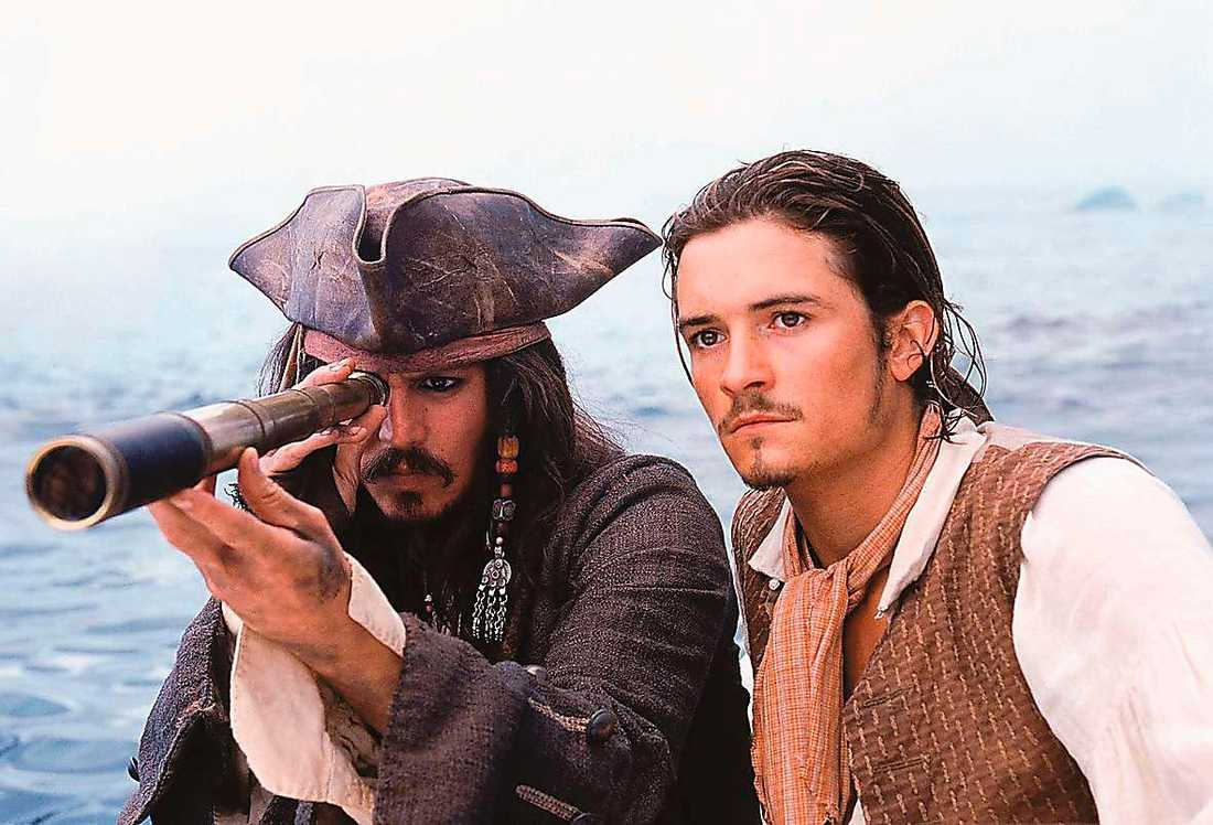 Johnny Depp och Orlando Bloom.
