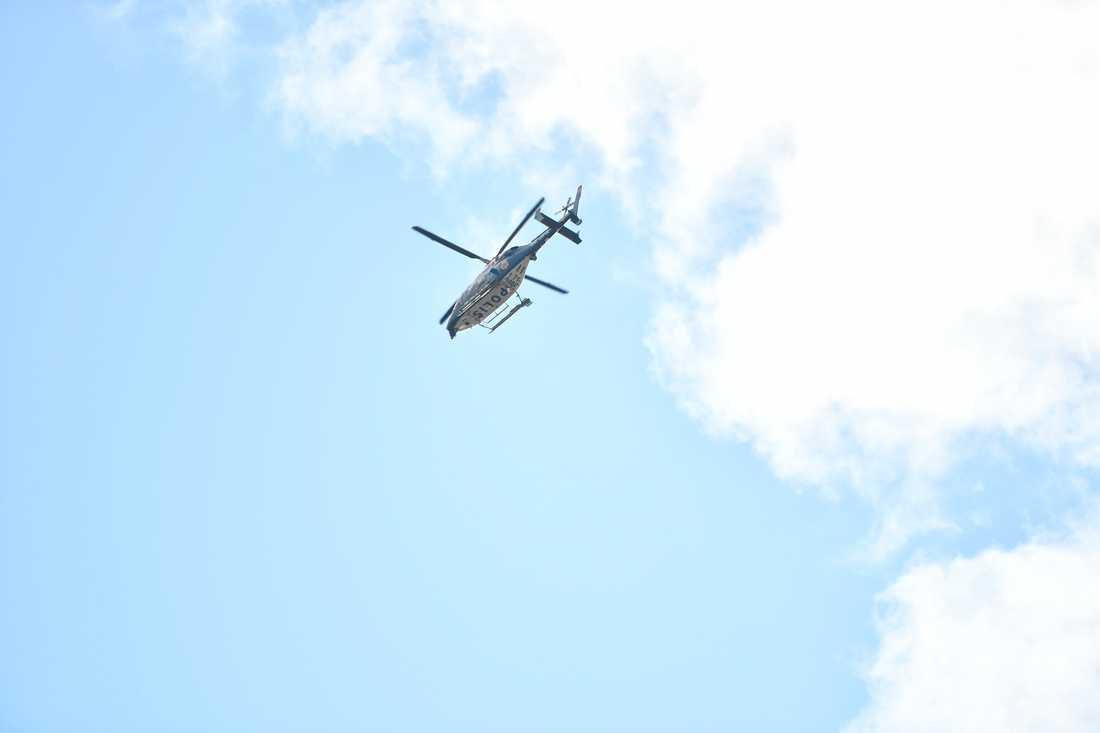 Polisen satte in helikopter i sökandet.