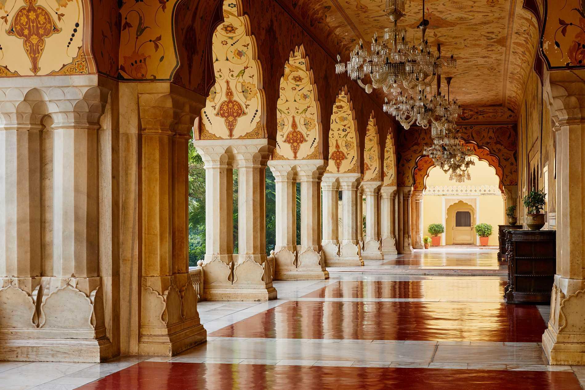 Stadspalatset i Jaipur byggdes för nära 300 år sedan.