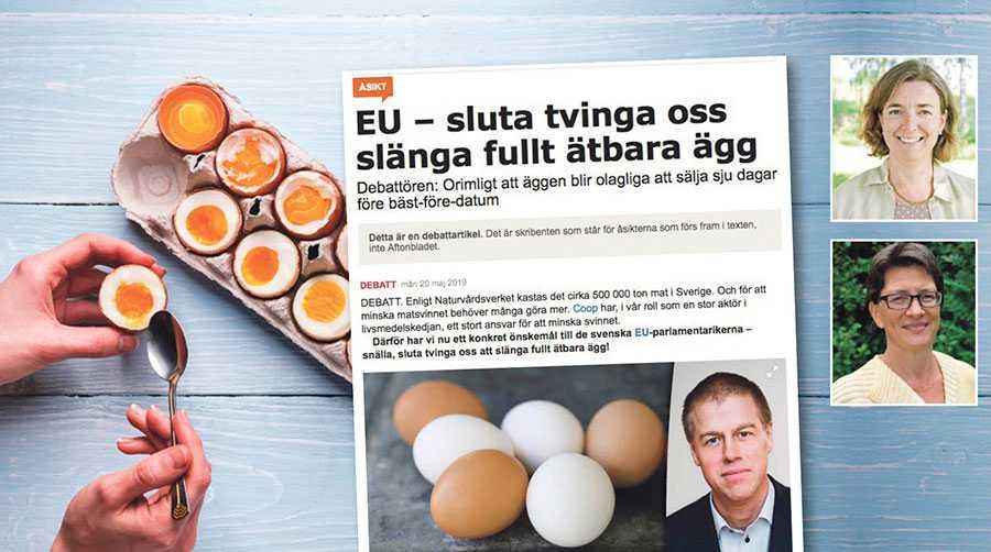Lagstiftningen är anpassad efter länder med förekomst av salmonella. Men lagstiftningen är irrelevant för oss eftersom svenskproducerade ägg är salmonellafria, skriver Marie Lönneskog Hogstadius och Lovén Persson.
