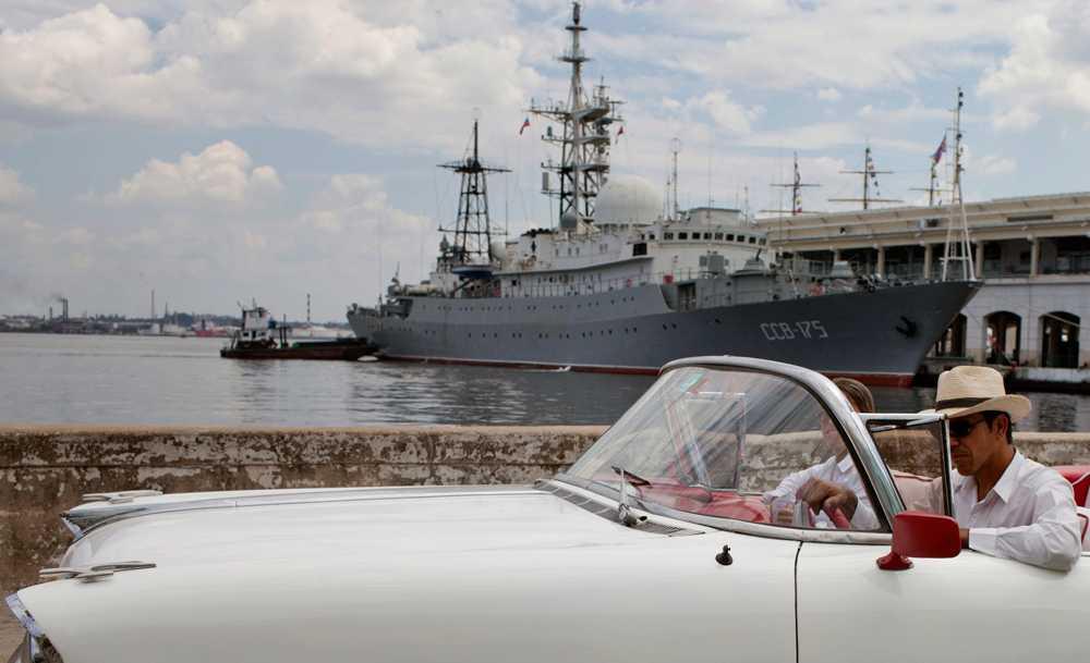 Viktor Leonov i Havannas hamn den 27 februari i år
