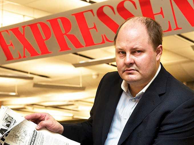 """Expressen, med chefredaktör Thomas Mattsson, har ägnat fyra veckor åt att granska Aftonbladet, men gör ingen journalistik på Expressen-reportern som anklagas för sexuella hot i tjänsten. """"Hur ser en ryggradslös publicist ut? Åk till Marieberg och kolla"""", skriver Åsa Linderborg."""