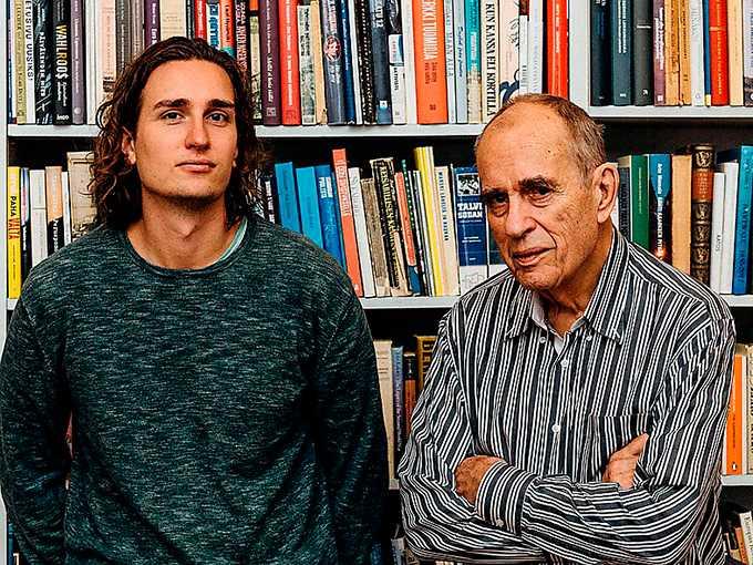 """Rafael och Jörn Donner brevväxlar i boken """"Innan du försvinner""""."""
