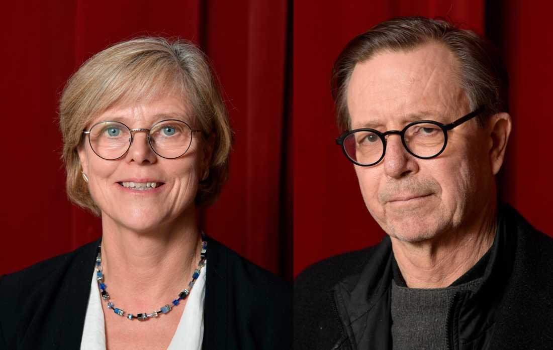 Ingrid Carlberg och Steve Sem-Sandberg — nya ledamöter i Svenska Akademien. Arkivbild.