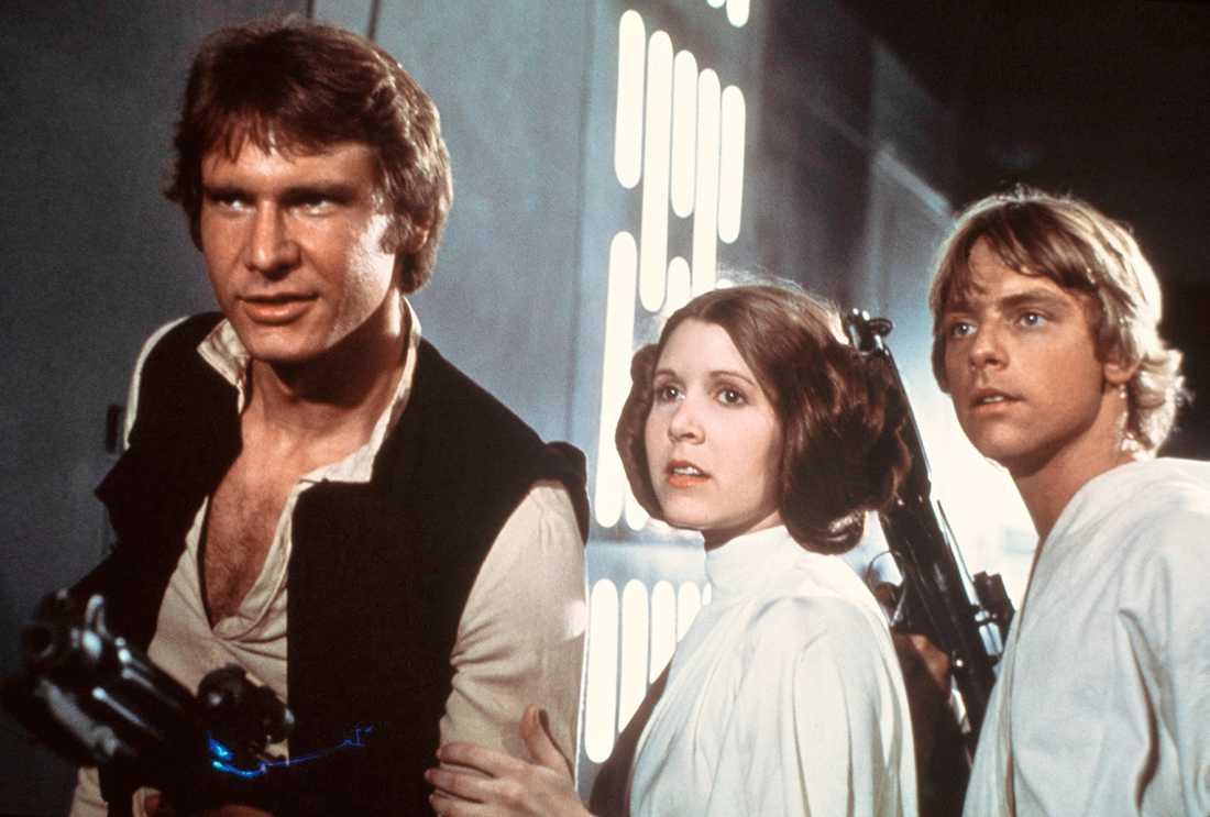 Harrison Ford, Carrie Fisher och Mark Hamill i rollerna som både gav skjuts (för Harrison Ford) och stjälpte deras karriärer (för Fisher och Hamill).