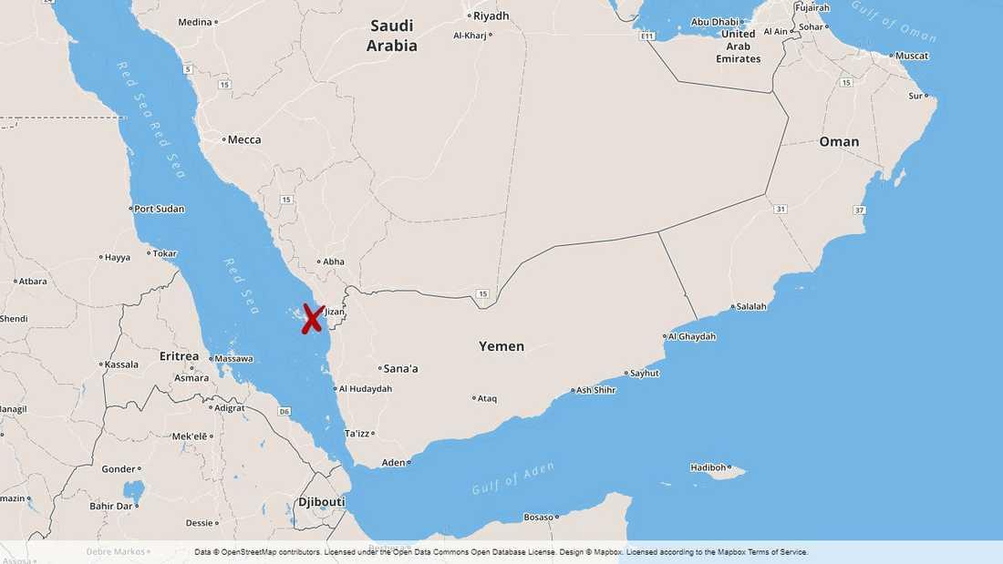 Saudiarabien uppger sig ha skjutit ned en drönare med en bomb på väg mot flygplatsen i Jizan.