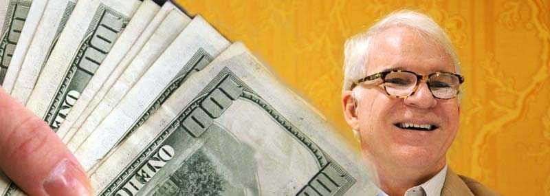 Steve Martin vann tusen dollar på nätpoker – trots att han var snurrig av en sömntablett.