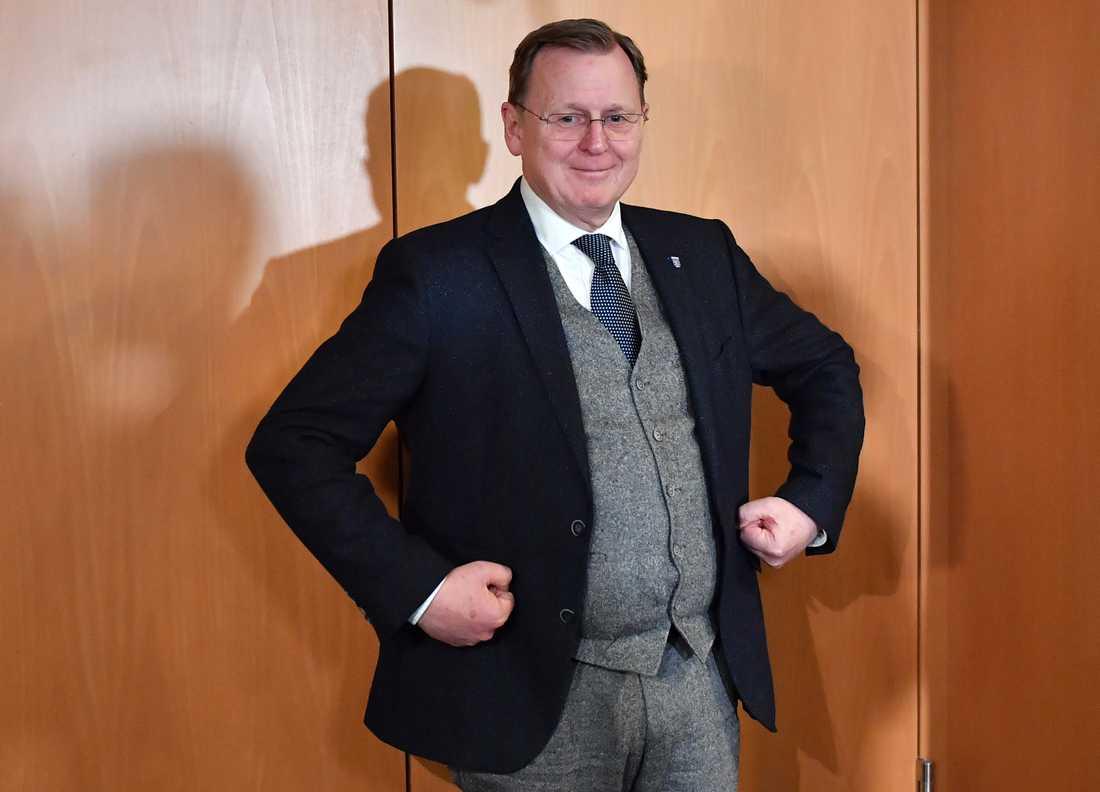 Bodo Ramelow, ministerpresident i den tyska delstaten Thüringen. Arkivbild.