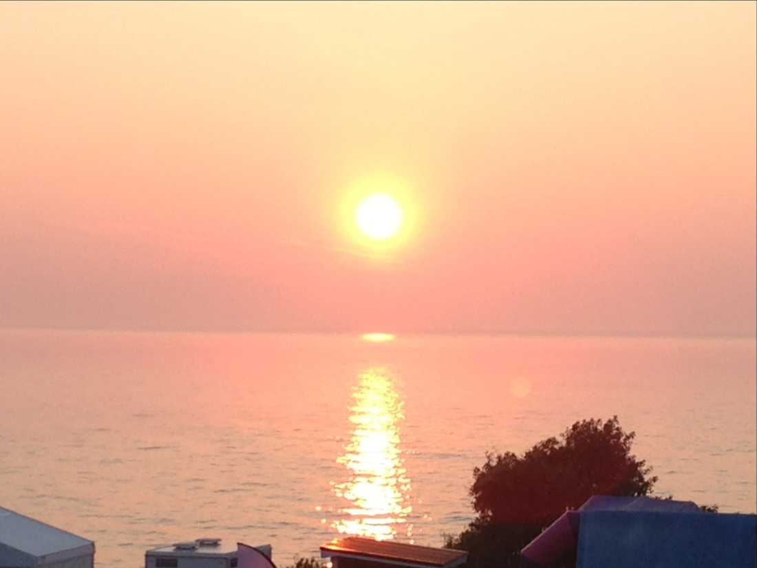 Solnedgång i Visby.
