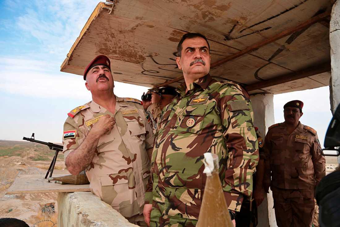 Iraks försvarsminister Najah al-Shammari. Arkivbild.