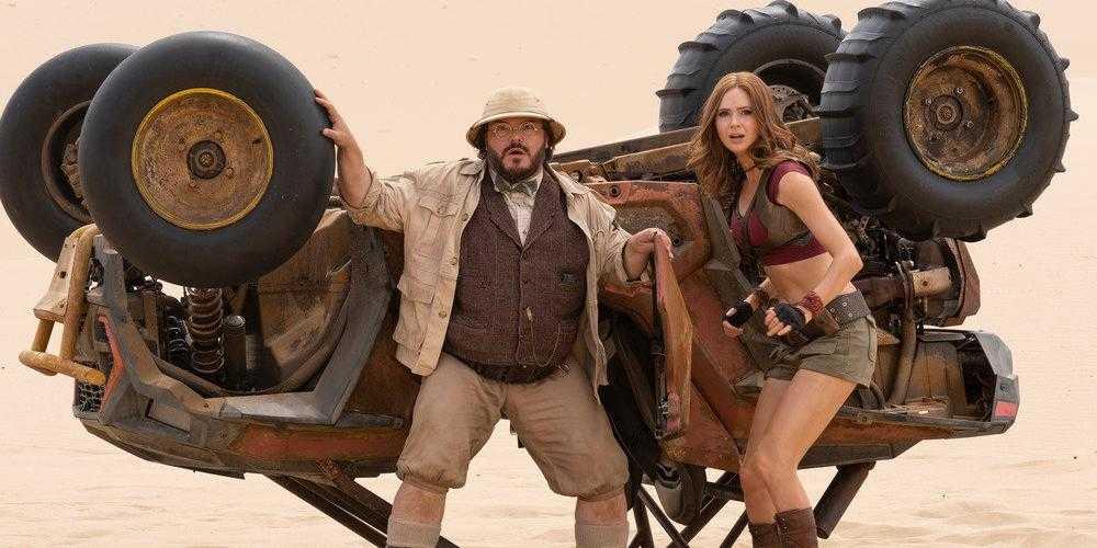 "Jack Black och Karen Gillan i ""Jumanji: The next level""."