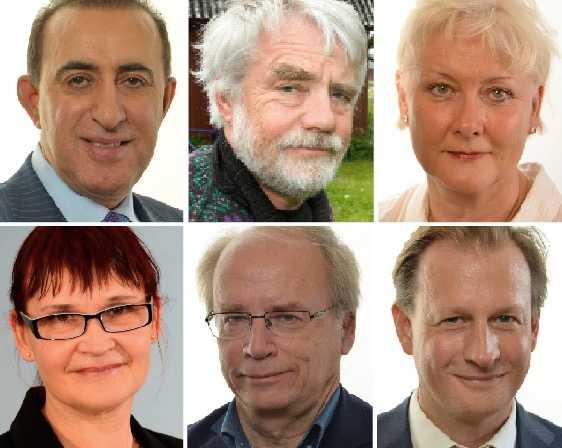 Debattörerna Jabar Amin, Per Gahrton, Lotta Hedström, Annika Lillemets, Valter Mutt och Carl Schlyter från Miljöpartiet.