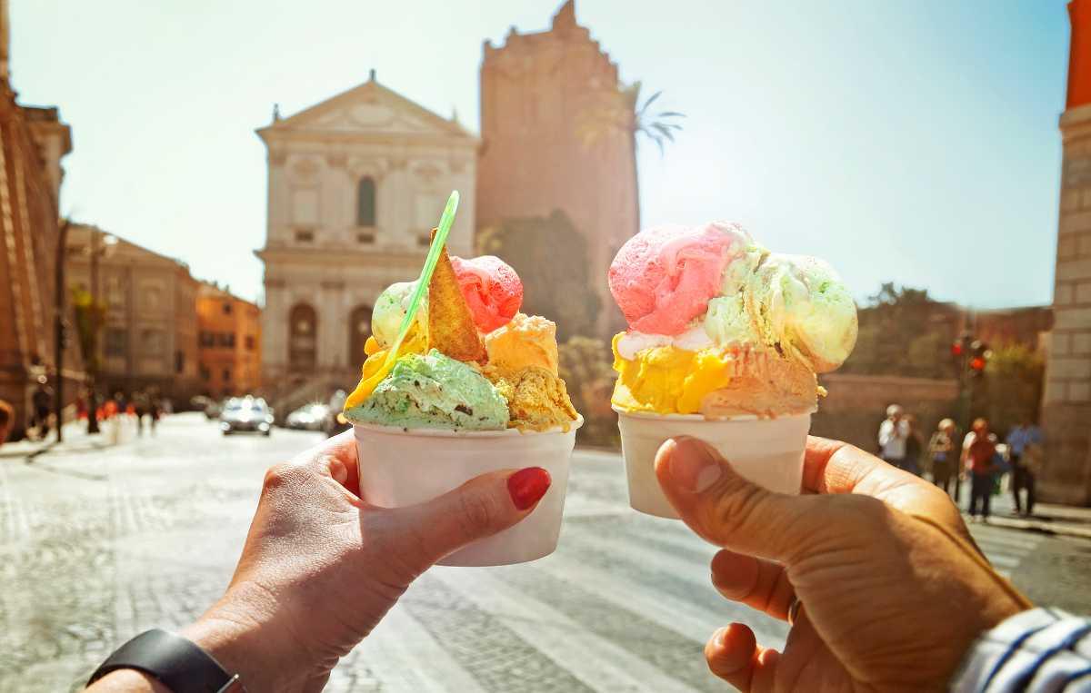 En glass i Rom, ljuvligt härligt.