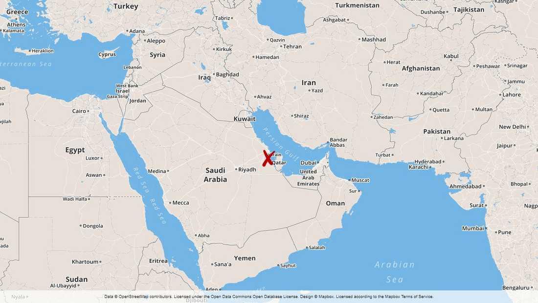 Husraset skedde i det lilla öriket Bahrains huvudstad.