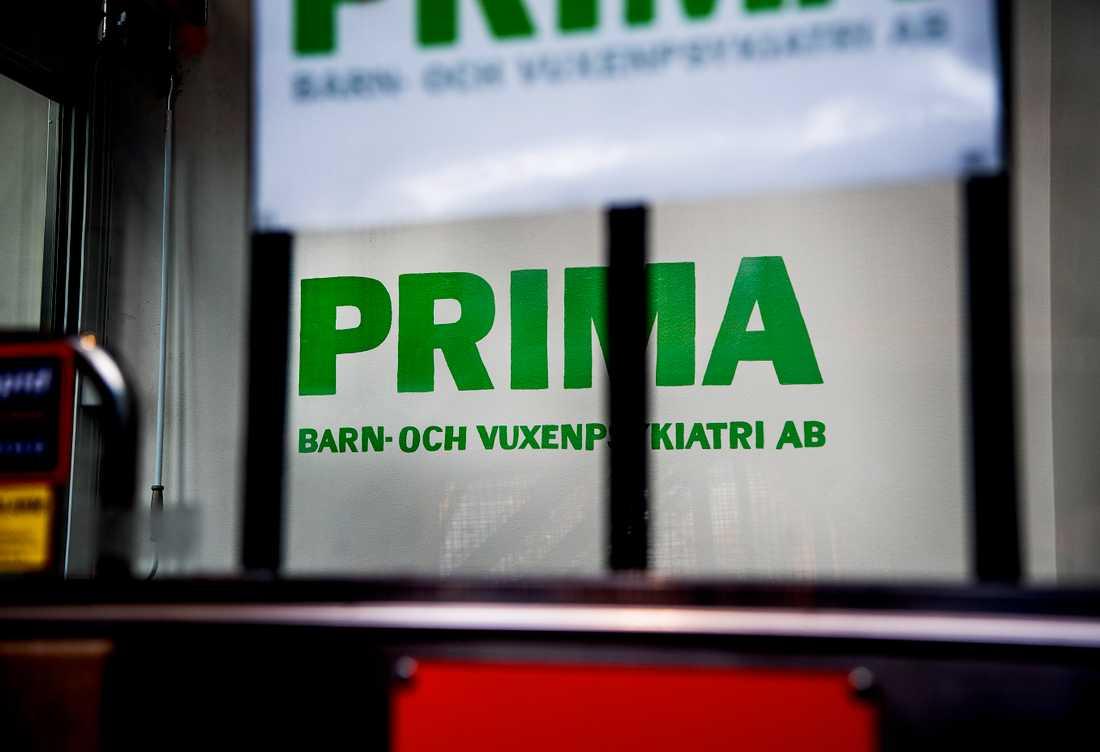 Vårdgivaren Primas lokaler i Stockholm.